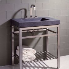 Slab Vanity - 31.5 Inch Stainless Stand 31.5 / Stainless Steel