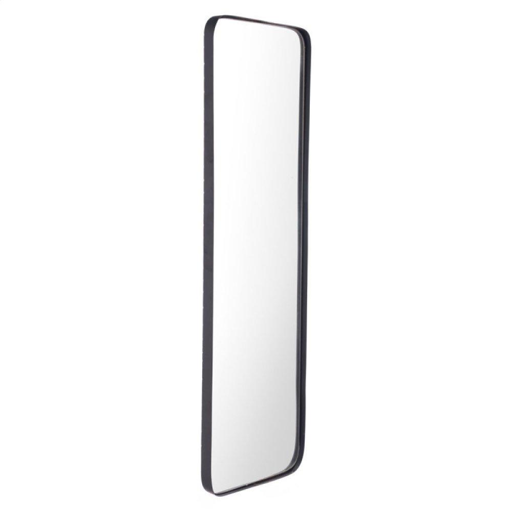 Rectangular Metal Back Mirror Black