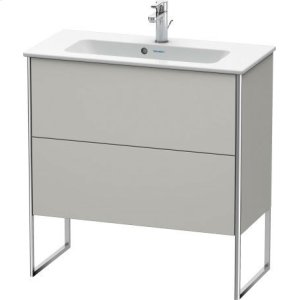 Vanity Unit Floorstanding Compact, Concrete Gray Matt Decor
