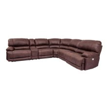 8698 Barcelona Straight Console w/ USB in #30901 Bison Brown