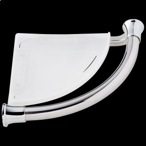 Chrome Transitional Corner Shelf with Assist Bar Product Image