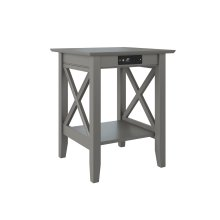 Lexi Printer Stand with Charging Station Atlantic Grey