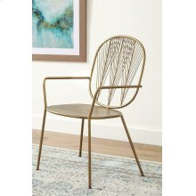 Contemporary Brass Iron Accent Chair