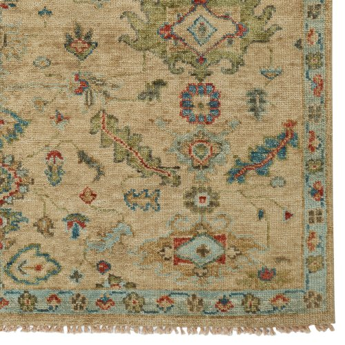 Charise-Isfahan Sand Hand Knotted Rugs