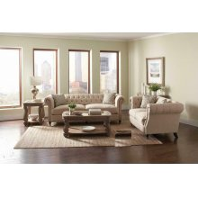 Trivellato Traditional Oatmeal Loveseat