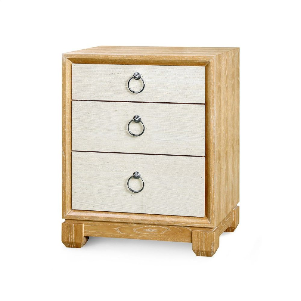 Calvin 3-Drawer Side Table, Natural