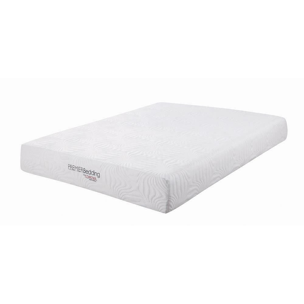 Key White 10-inch California King Memory Foam Mattress