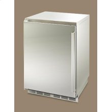 """24"""" inch outdoor refrigeration shown with left side hinge."""
