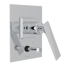 Polished Chrome Vincent Pressure Balance Trim With Diverter with Metal Lever