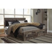 Derekson - Multi Gray 5 Piece Bed Set (King) Product Image