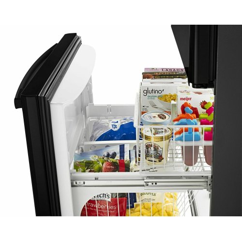 33-inch Wide Bottom-Freezer Refrigerator with EasyFreezer Pull-Out Drawer - 22 cu. ft. Capacity - Black