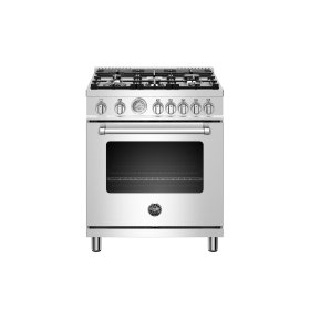 30 inch All Gas Range, 5 Burners Stainless Steel