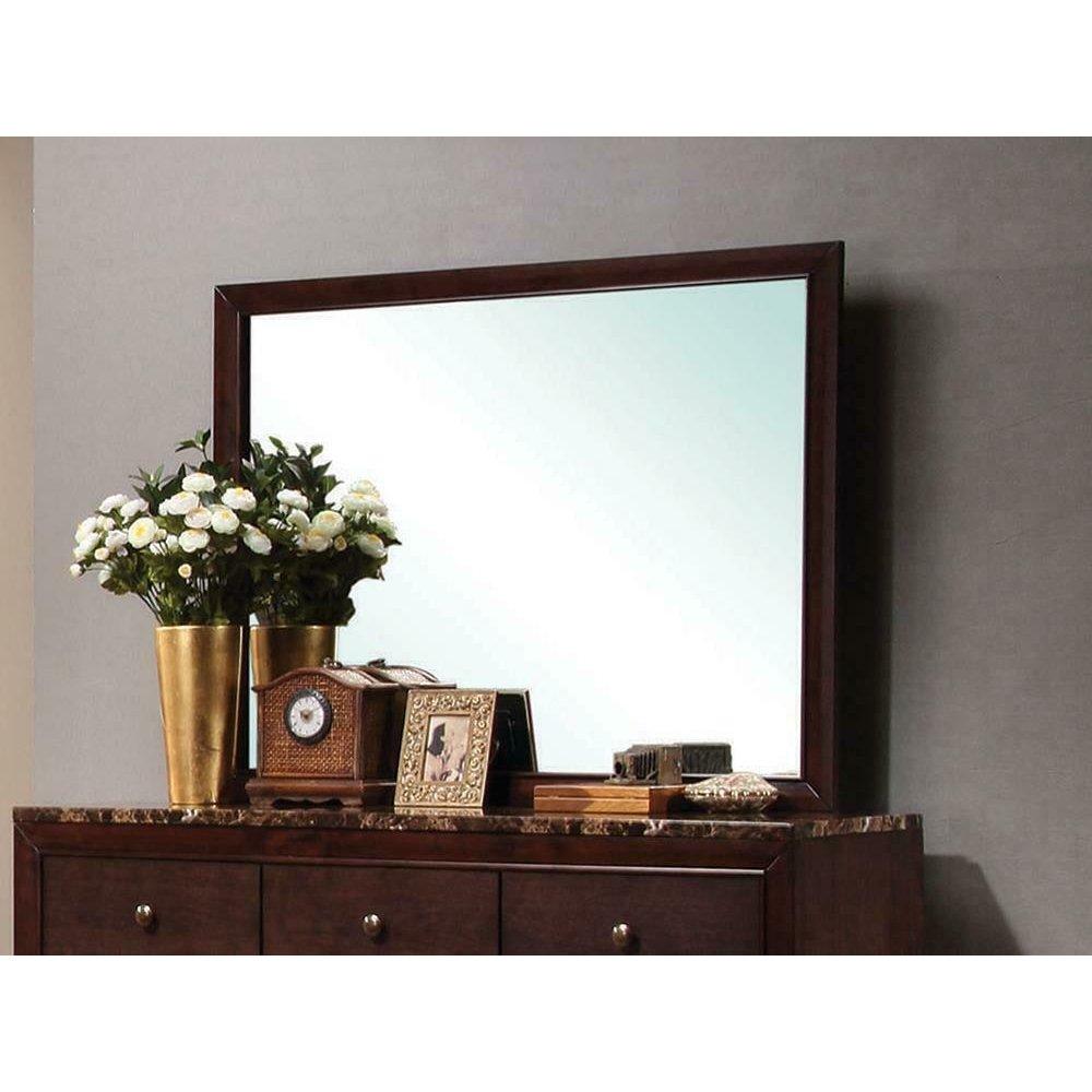 Conner Casual Cappuccino Rectangular Dresser Mirror