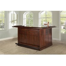 Classic Large Bar With Side Bar, Brown Cherry Finish