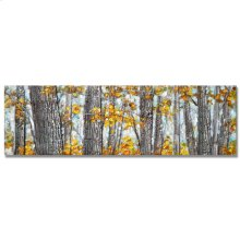 Forest IV 22x72 Hand Painted with Mixed Media