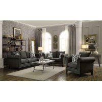 Emerson Transitional Charcoal Loveseat Product Image