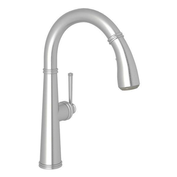 Stainless Steel 1983 Pull-Down Bar/Food Prep Faucet with 1983 Metal Lever