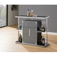 Contemporary Glossy Black Bar Unit