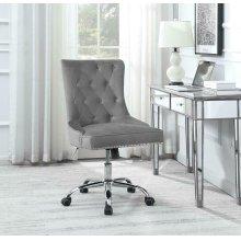 Modern Grey Velvet Office Chair