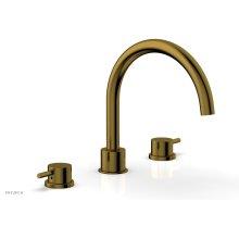 BASIC II Deck Tub Set 230-43 - French Brass