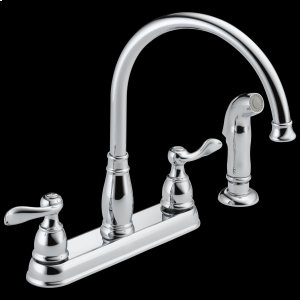 Chrome Two Handle Kitchen Faucet Product Image