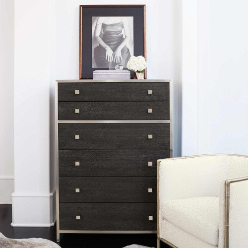 Decorage Tall Chest in Cerused Mink (380)