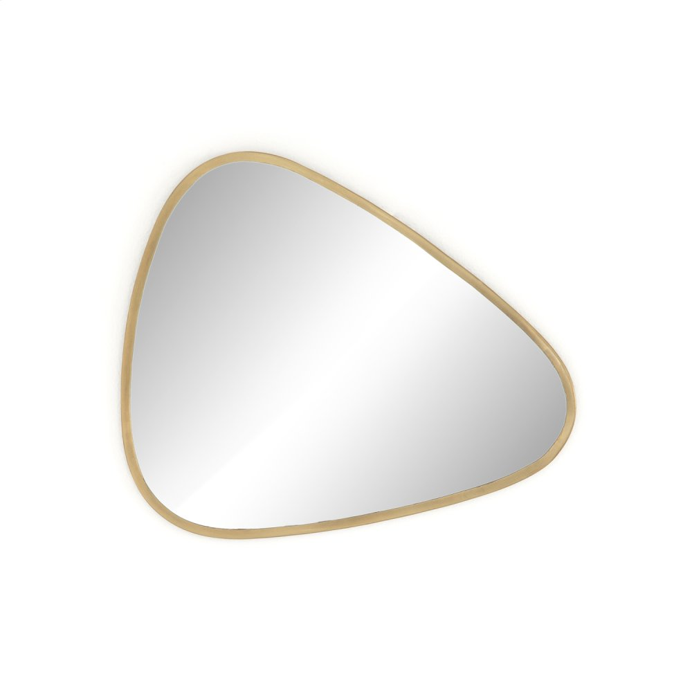 Brinley Triangle Mirror-antique Brass