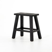 Black Finish Hattie Rectangular Accent Stool
