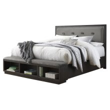 Hyndell - Dark Brown 2 Piece Bed Set (Cal King)