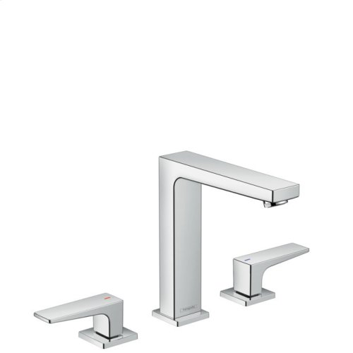 Chrome Widespread Faucet 160 with Lever Handles, 1.2 GPM