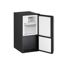"Ada Series 15"" Crescent Ice Maker With Black Solid Finish and Field Reversible Door Swing (115 Volts / 60 Hz)"