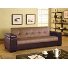 Tan Microfiber Sofa