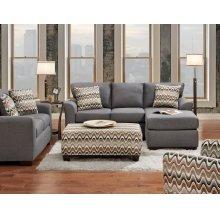 3900 Cosmopolitan Sofa-Chaise in Grey (Sofa-Chaise & Floating Ottoman)
