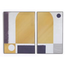 In Harmony Gold Diptych By Coup D'esprit