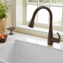 Quince 1-Handle Pull Down 1.5 GPM High-Arc Kitchen Faucet  American Standard - Oil Rubbed Bronze