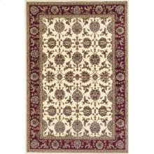 "Cambridge 7312 Ivory/red Kashan 5'3"" X 7'7"""