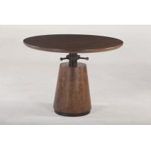 Industrial Modern Adjusting Round Table 40""