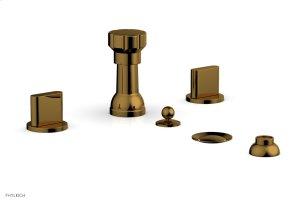 ROND Four Hole Bidet Set 183-60 - French Brass Product Image