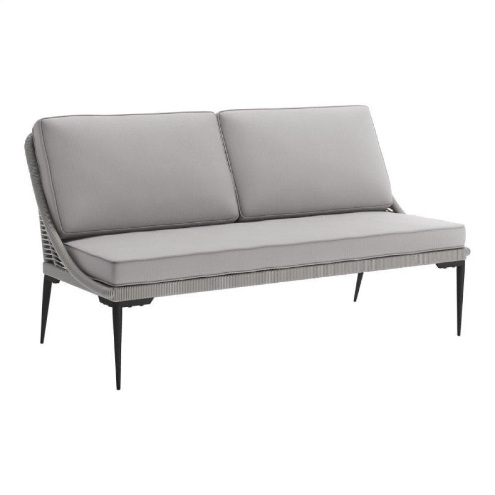 Tahiti Sofa Black & Dark Gray