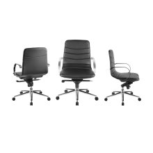 The Horizon Arm Black Eco-leather Office