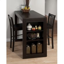 Merlot Counter Height Storage Table