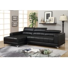 Samuel Black Bonded Leather Sectional