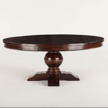 """Colonial Plantation Round Dining Table 72"""" Light"""