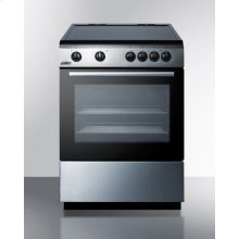 """24"""" Wide Smoothtop Electric Range In Slide-in Style, With Stainless Steel Manifold, Storage Drawer, and Large Oven Window"""