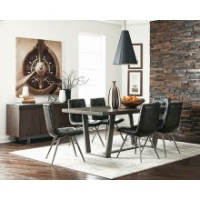Hutchinson Industrial Grey Dining Table