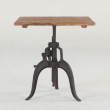 "Industrial Loft Adjustable Dining Table 30"" Square"