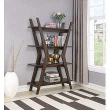 Mid-century Modern Dark Walnut Bookcase
