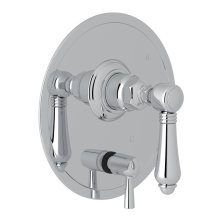 Polished Chrome Italian Bath Pressure Balance Trim With Diverter