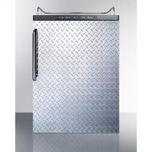 Built-in Residential Beer Dispenser, Auto Defrost W/digital Thermostat, Diamond Plate Door, and Tb Handle; Sold Without Tap Kit for Do-it-yourselfers