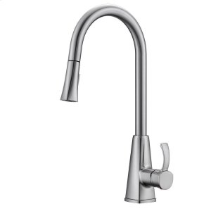 Christabel Single Handle Kitchen Faucet with Pull-Down Spray - Brushed Nickel Product Image